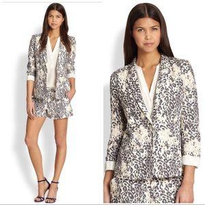 Joie 100% linen Mehira leopard print blazer